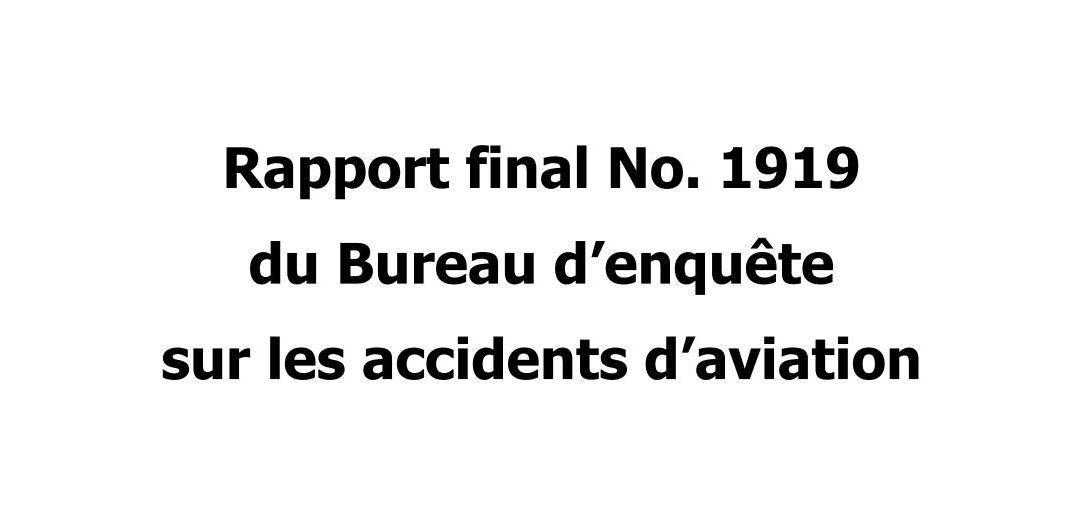 Extrait du rapport N°1919